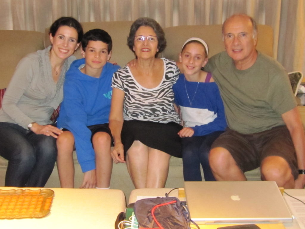 From left: me, my son Thomas, aunt Sarita, my daughter Bianca Laila and my father Salomon