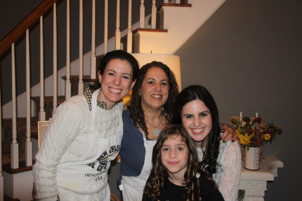 Happy moment: lovely ladies of the family; start from left: me, Leslie Riback, Gabby Riback (her daughter), and Bianca Laila (my daughter)