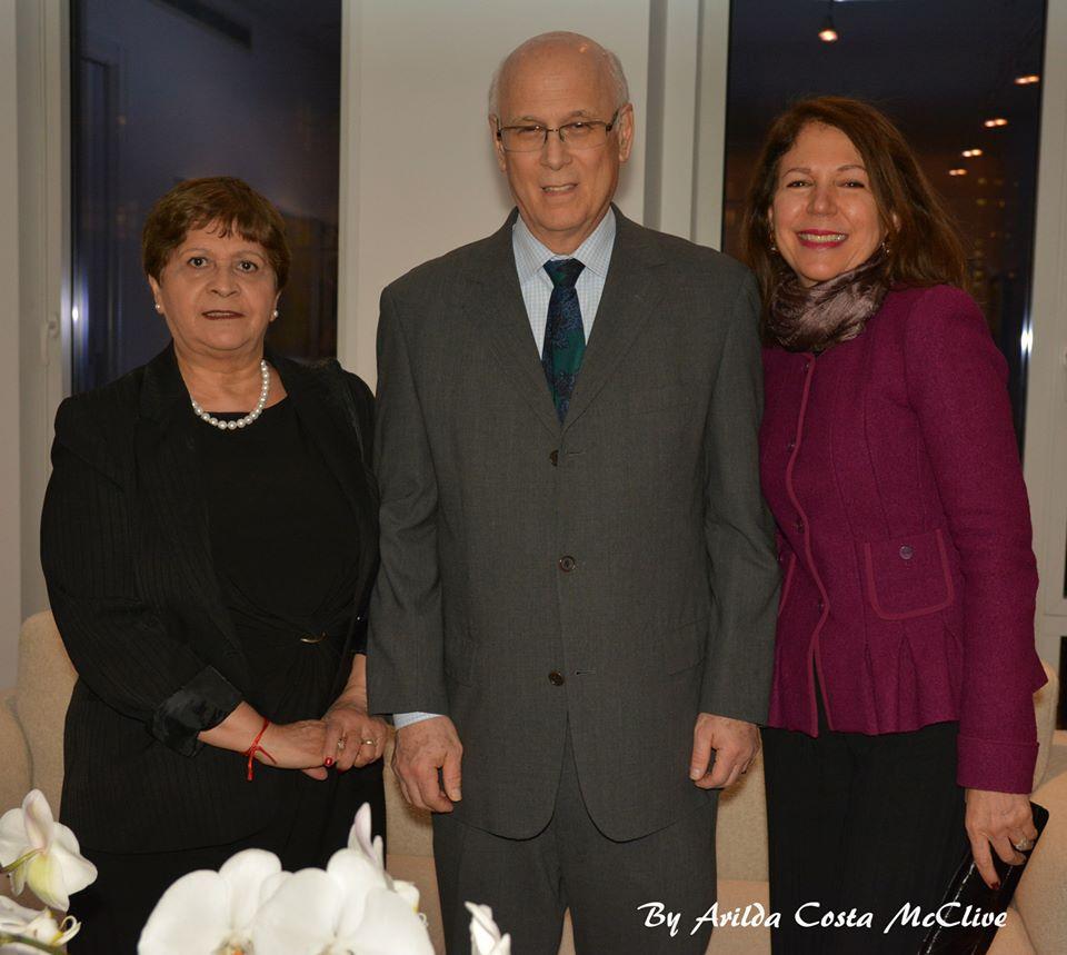 Ruthe Phillips, James Rosenstein and wife Carolina