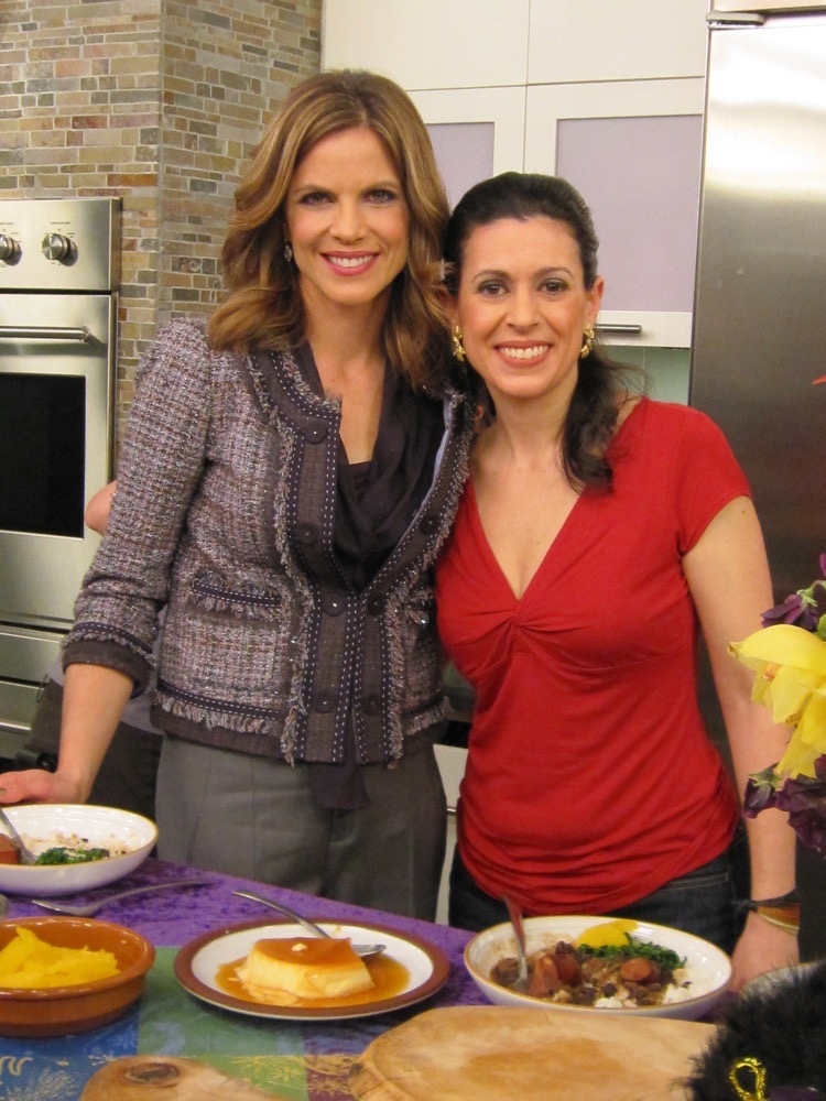 Natalie and me on the set of Today Show