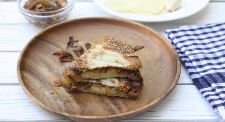 Onion Gratin Grilled Cheese Sandwich